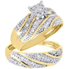 trio wedding sets wedding rings gordons trio wedding rings princess cut bridal