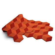 geometric wool felt orange runner u2013 crowdyhouse
