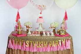 Pink And Gold Dessert Table by One Stylish Party Brand Shoot U2013 One Stylish Party