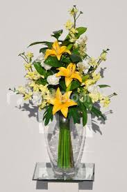 Artificial Lilies In Vase Corporate Flowers And Artificial Flower Arrangements For Your Home