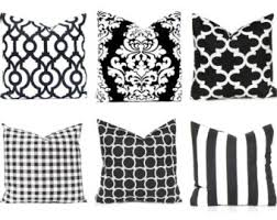 Black Sofa Pillows by Black Pillow Cover Etsy