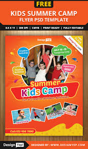 advertising template free free kids summer camp flyer psd template 8585 designyep free free kids summer camp flyer psd template 8585