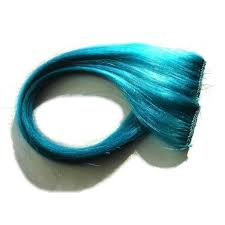 teal hair extensions atomic turquoise clip in hair extensions blue teal aqua cyan on