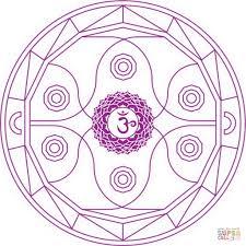 muladhara chakra mandala coloring page free printable coloring pages