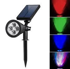 amazon com hkyh color changing led solar spotlight solar