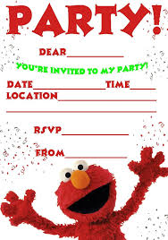 free printable elmo birthday invitations template ideas