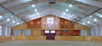 horse barn with indoor riding arena nucor building systems