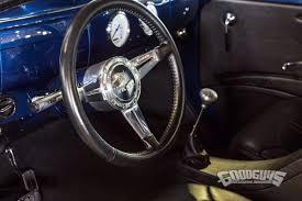 Vintage Ford Truck Steering Wheel - blazing blue 1941 willys pickup goodguys news