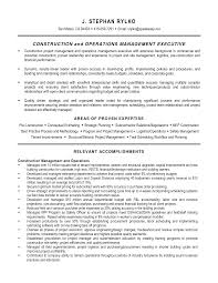 Sample Project Management Resume Resume Sample Construction Project Manager Resume
