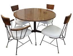 mid century modern dining room table richard mccarthy mid century modern dining set chairish