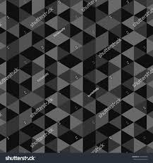 seamless pattern triangles different shades gray stock vector