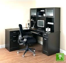 Black L Shaped Desk Black Computer Desk Hutch Back Coo Black L