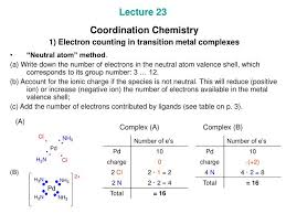 Electron Counting Organometallic Compounds Exles Ppt Lecture 23 Coordination Chemistry 1 Electron Counting In