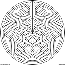 geometric pattern free coloring pages on art coloring pages