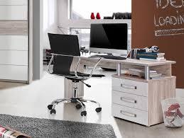 Schreibtisch H Enverstellbar Eck Romana Schreibtisch Sandeiche Weiß