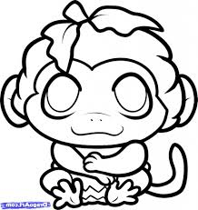 simple monkey drawing how to draw cartoons monkey easy step step