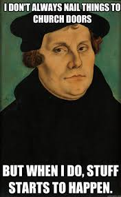 Pager Meme - if martin luther was on facebook the unexpected pastor