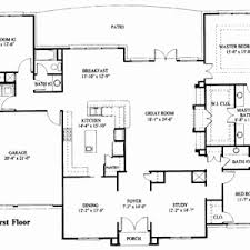 one story floor plan one story house plans with and bedroom floor open concept modern