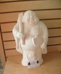 standing buddha garden statue unpainted ceramic bisque to paint