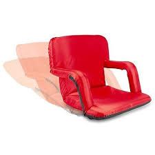 portable seat cushion back rest chair foam pad recliner bleacher