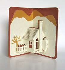 Home Decoration Handmade Home Pop Up 3d Card Home Décor Origamic Architecture Handmade