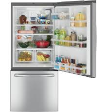 ge energy star 20 9 cu ft bottom freezer refrigerator