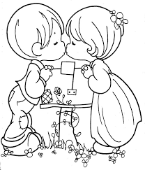 precious moment coloring pages precious moments coloring pages love kiss coloringstar