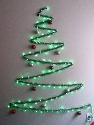 wall christmas tree string light and garland wall christmas tree christmas