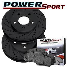 toyota yaris 2007 black brake rotors front powersport black drill slot pad toyota