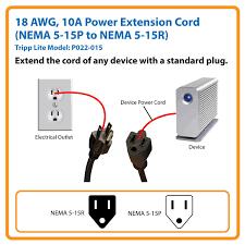 amazon com tripp lite standard power extension cord 10a 18awg