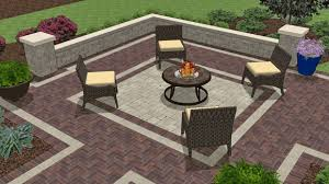 Paver Patio Designs With Fire Pit Patio Design Ideas With Fire Pits Zonadigital Info