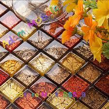 Red Tile Backsplash - crystal red tile glass fireplace wall design multi color tiles