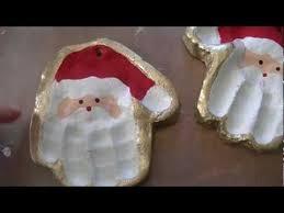 salt dough santa handprint ornaments craft