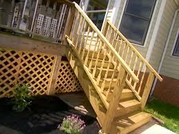 Decking Kits With Handrails How To Add Stairs To Your Deck How Tos Diy
