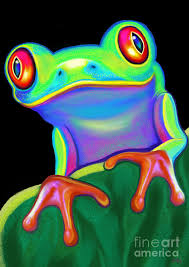 eyed tree frog painting by nick gustafson