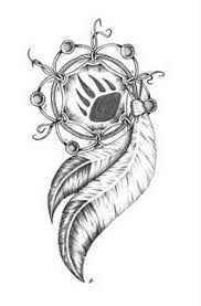 dreamcatcher change the paw in the middle to a wolf paw and i