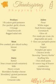 best 25 thanksgiving shopping list ideas on