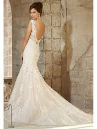 ivory lace wedding dress mori 5363 allover ivory lace in the shoulder wedding dress