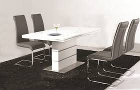 Dining Tables 4 Chairs Extraordinary High Gloss Dining Tables Cream Table And 4 Chairs