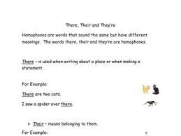 homophones worksheets where we u0027re wear their there they u0027re