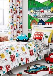 catherine lansfield bright multi transport boys bedding range