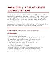 Paralegal Job Description Resume Job Description Templates The Definitive Guide