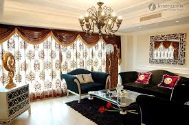 Curtain Design For Living Room - window treatment ideas for living room home design trends 2017