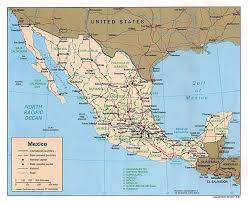 Map Of California And Mexico by