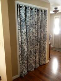 Curtains As Closet Doors 18 Closet Door Makeovers That Ll Give You Closet Envy Bi Fold