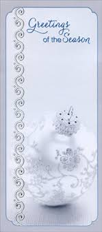 silver ornament greetings money gift card holder by
