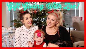 giving zoe her christmas gifts sprinkle of glitter youtube