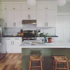 green kitchen cabinets with white island hornickel on instagram i spent an hour tidying