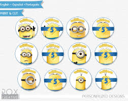 Minion Cake Decorations Minions Birthday Cupcake Toppers Minions Favor Tags Napkin