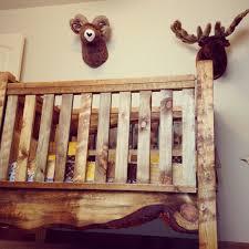 live edge baby crib and hunting lodge nursery i love this crib